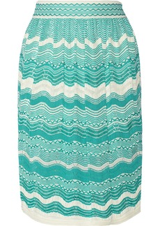 M Missoni Crochet-knit cotton-blend skirt
