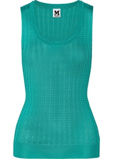 M Missoni Crochet-knit cotton-blend top