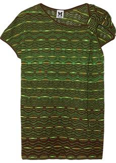 M Missoni Crochet-knit cotton-blend top