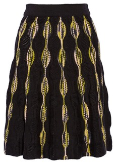 M Missoni Crochet-knit stretch-wool skirt