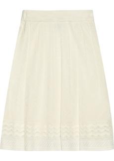 M Missoni Crochet-knit stretch-wool skirt