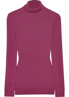 M Missoni Crochet-knit turtleneck sweater