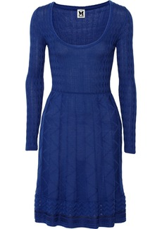 M Missoni Crochet-knit wool-blend dress