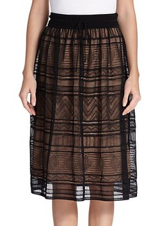 M Missoni Crochet Lace Skirt