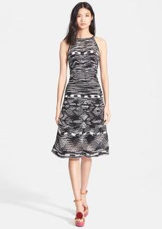 M Missoni Crochet Zigzag A-Line Dress