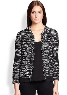 M Missoni Crochet Zigzag Jacket