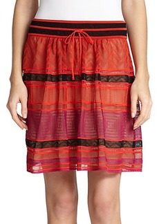 M Missoni Crocheted Lace Skirt