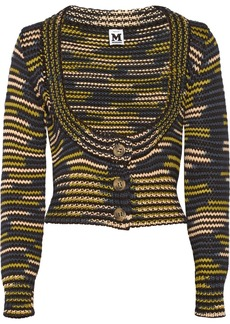M Missoni Cropped chunky-knit cardigan