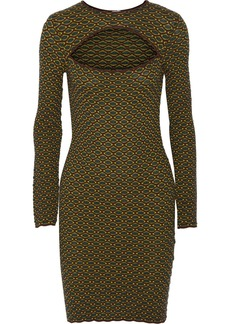 M Missoni Cutout jacquard-knit mini dress