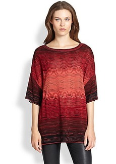 M Missoni Degrade Ripple-Knit Top