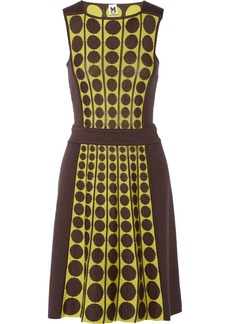 M Missoni Dotted fleece wool-blend dress