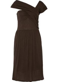 M Missoni Draped modal and wool-blend dress