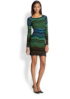 M Missoni Fancy Ripple-Knit Dress