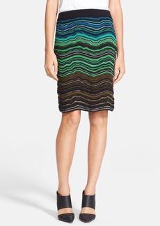 M Missoni Fancy Ripple Knit Skirt