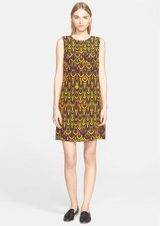 M Missoni Geometric Diamond Print Silk Shift Dress