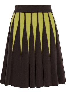 M Missoni Geometric terry and crochet-knit mini skirt