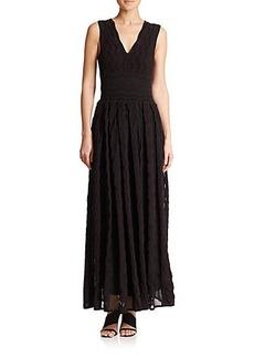 M Missoni Greek Key Sheer Knit Maxi Dress
