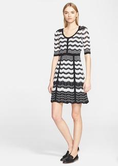 M Missoni Greek Key Stripe Knit Dress