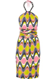 M Missoni Halterneck jersey dress