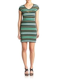M Missoni Knit Bubble-Print Dress