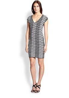 M Missoni Knit Pebble-Stripe Dress