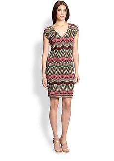 M Missoni Knit Zigzag Dress