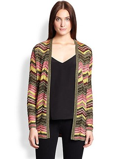 M Missoni Knit Zigzag Long Cardigan