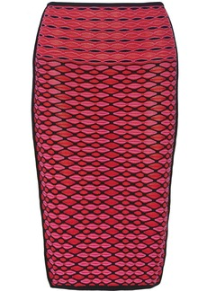 M Missoni Knitted cotton-blend pencil skirt