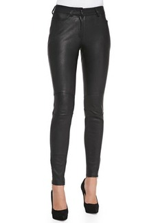 M Missoni Leather Pants with Zipper Cuffs
