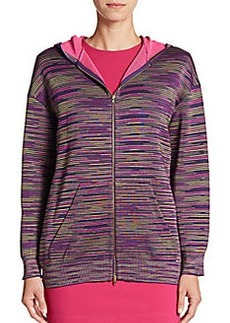 M Missoni Marled Stripe Hooded Jacket