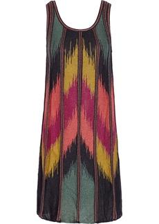 M Missoni Metallic stretch-knit dress