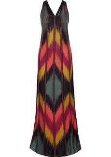 M Missoni Metallic stretch-knit maxi dress