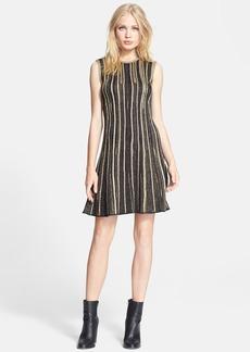 M Missoni Metallic Stripe Knit A-Line Dress