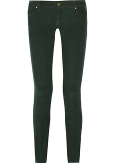 M Missoni Mid-rise skinny stretch-corduroy jeans