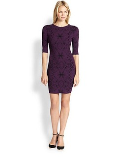M Missoni Mosaic Knit Jacquard Dress