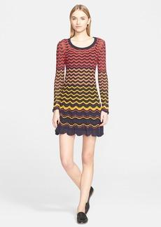 M Missoni Multicolor Zigzag Knit Dress
