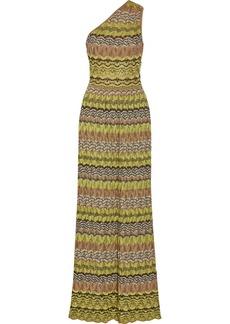 M Missoni One-shoulder crochet-knit maxi dress