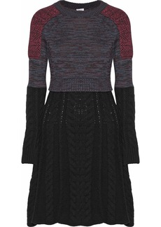 M Missoni Paneled wool-blend dress