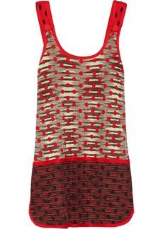 M Missoni Patterned cotton-blend mini dress