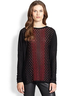 M Missoni Placed-Dash Knit Top