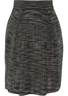 M Missoni Pleated cotton-blend skirt