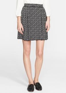 M Missoni Pleated Geometric Jacquard Skirt
