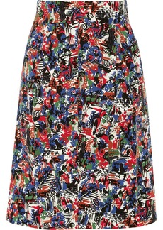 M Missoni Pleated printed-cotton skirt