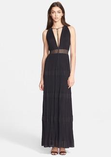 M Missoni Plissé Maxi Dress