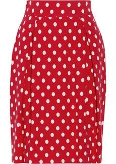 M Missoni Polka-dot knitted cotton skirt
