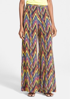 M Missoni Print Wide Leg Silk Pants