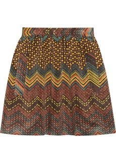 M Missoni Printed corduroy skirt