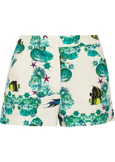 M Missoni Printed cotton and silk-blend shorts