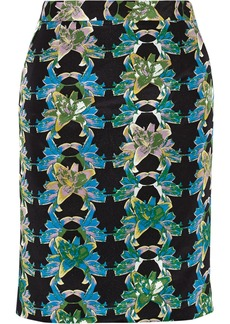 M Missoni Printed cotton and silk-blend skirt