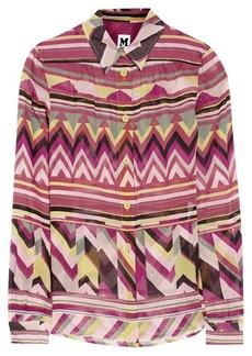 M Missoni Printed cotton shirt